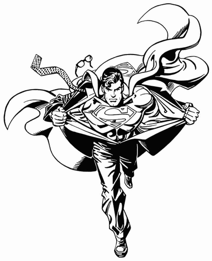 Superman Coloring Pages For Print