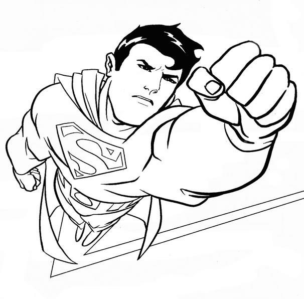 Superman Coloring Pages In Action