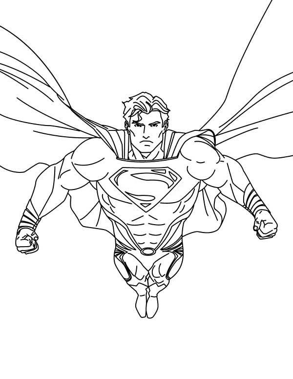 Superman Coloring Pages Strong Superhero