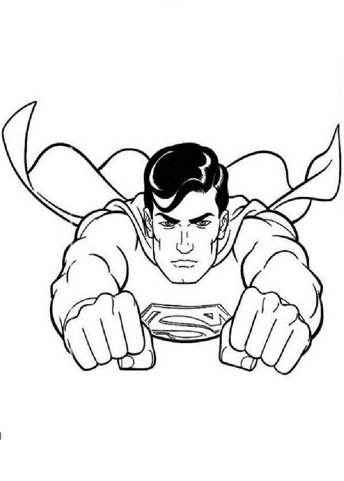 Superman Face Coloring Pages