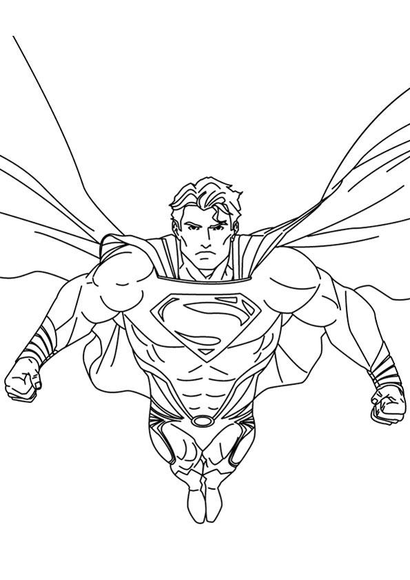 Superman Justice League Coloring Pages