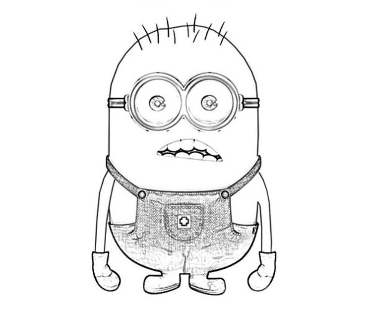 Surprising Miniondespicable Me Coloring Pages