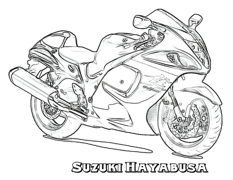 Suzuki Motorcycle Coloring Pages