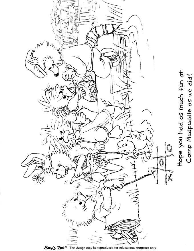 Suzys Zoo Coloring Pages Camp Mudpuddle