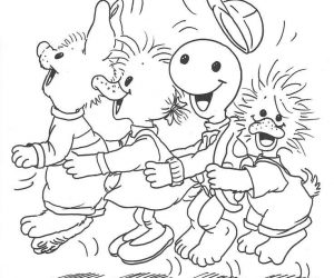 Suzys zoo coloring pages dancing with friends