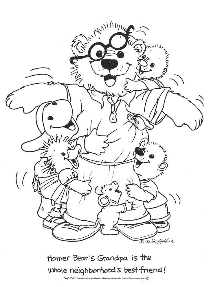 Suzys Zoo Coloring Pages Homer Bears Grandpa