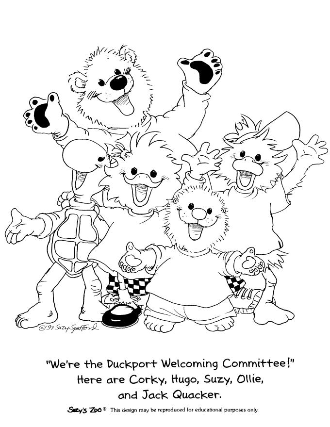 Suzys Zoo Coloring Pages Suzy And Friends
