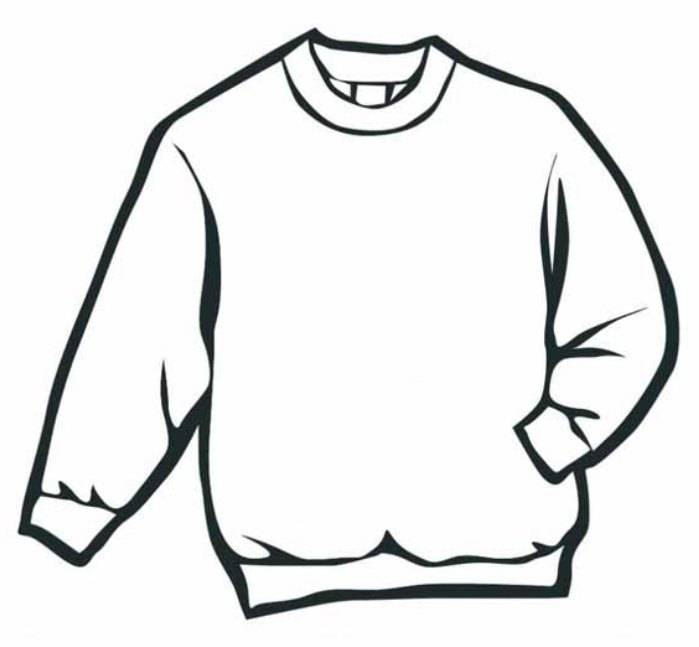 Sweater Winter Clothes Coloring Page