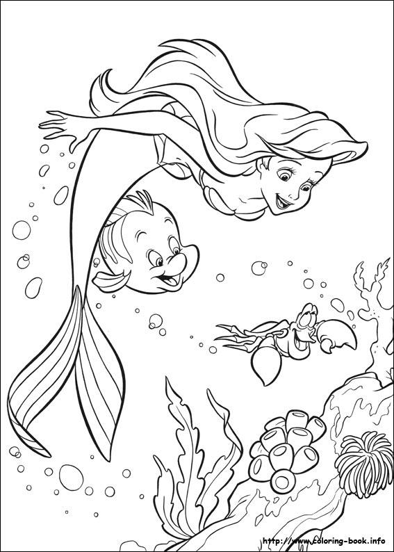 Sweet Baby Mermaid Coloring Pages 1