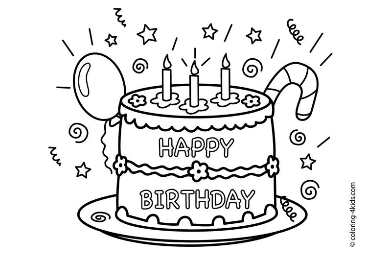 Sweet cake coloring pages 1