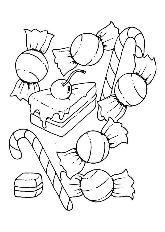 Sweet Candy Coloring Pages