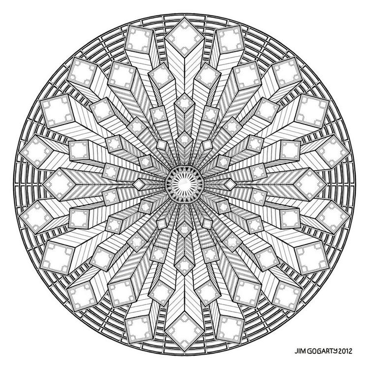 Sweet Free Simple Mandala Coloring Pages