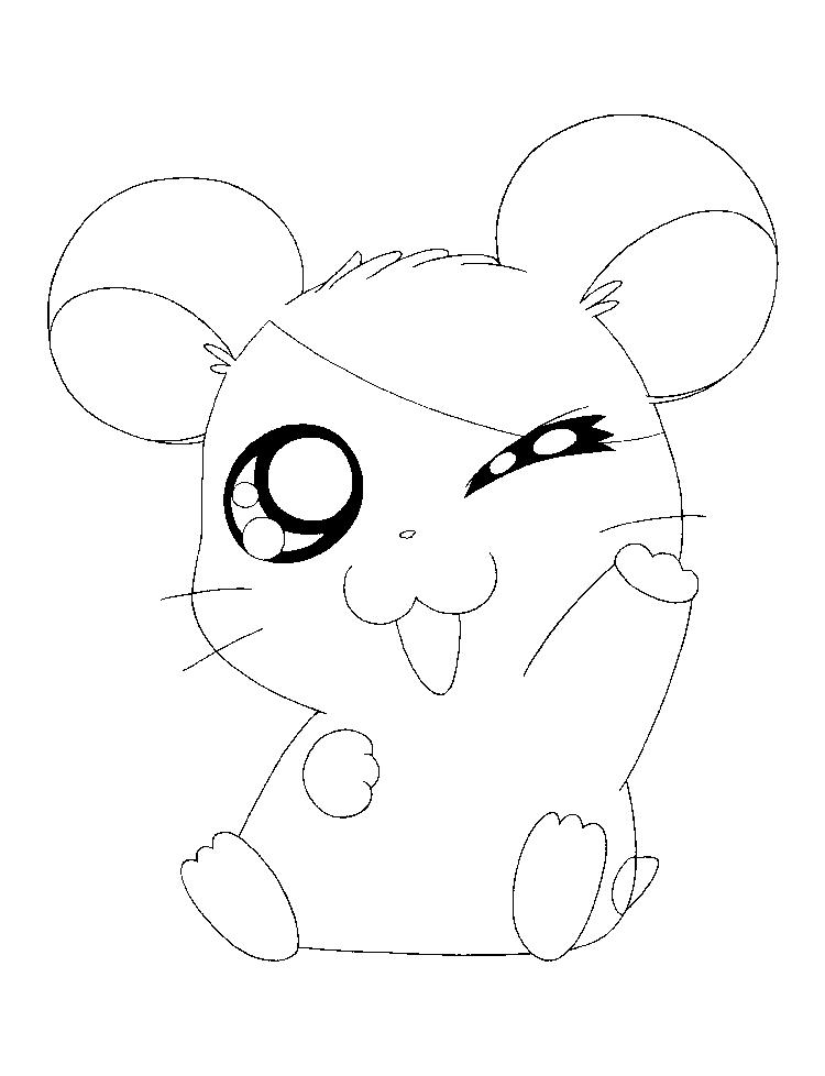 Sweet Hamtaro Coloring Pages