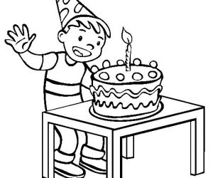 Sweet happy birthday cupcake coloring pages