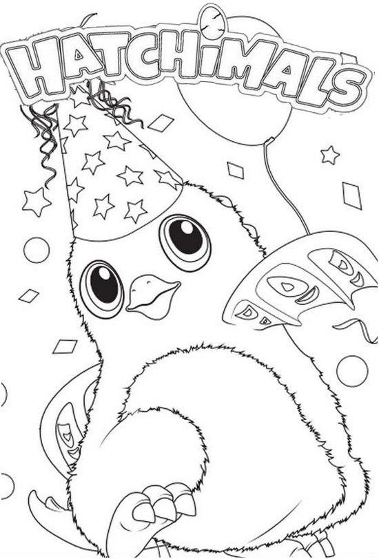 Sweet Hatchy Birthday Hatchimal Coloring Pages