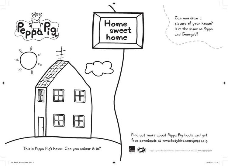 Sweet Home Peppa Pig And Friends Coloring Pages