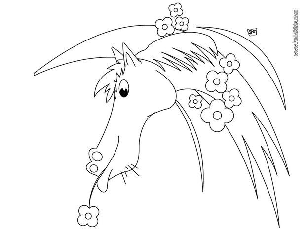 Sweet Lisa Frank Horse Coloring Pages
