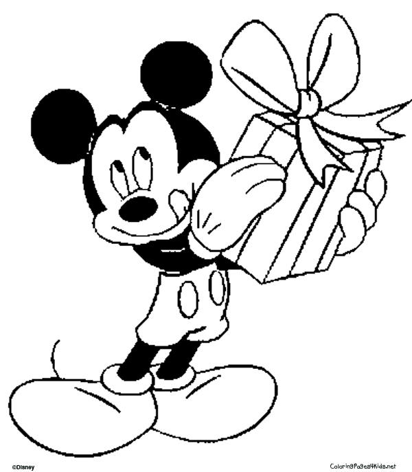 Sweet Mickey Mouse Birthday Coloring Pages