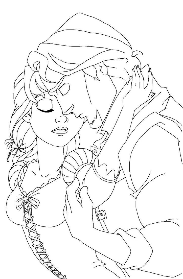 Sweet Rapunzel Coloring Pages
