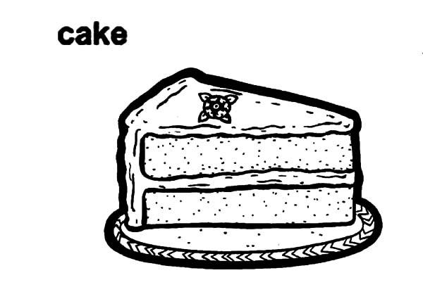 Sweet Slice Cake Coloring Pages 1