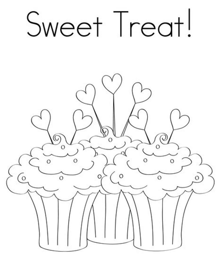 Sweet Treat Birthday Coloring Pages For Kids