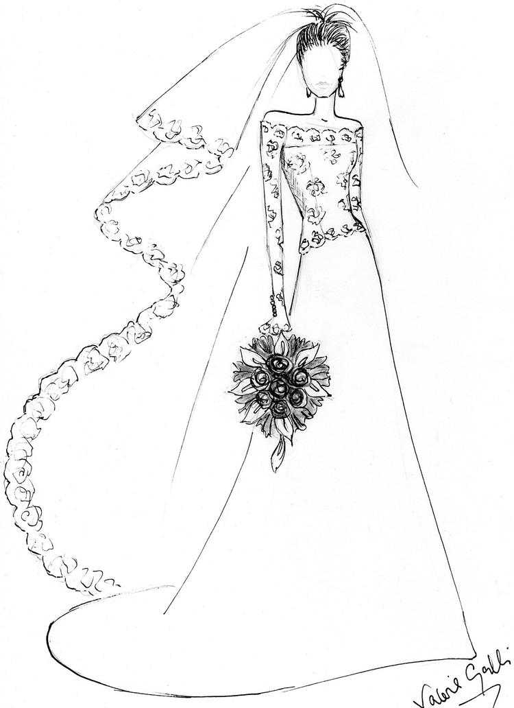 Sweet Wedding Dress Coloring Pages