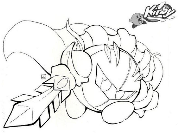 Sword Kirby Coloring Pages