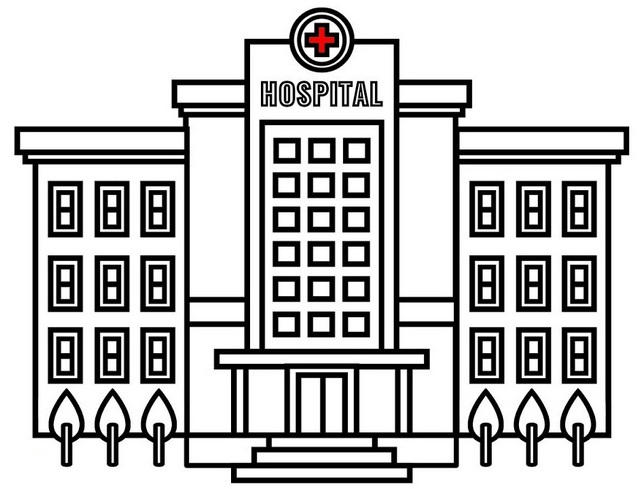 Symmetry Architecture Hospital Coloring Page