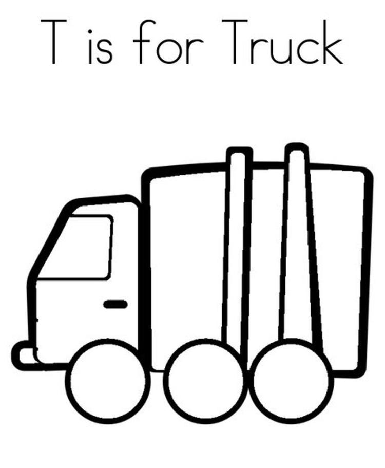 T Is For Truck Alphabet Coloring Page
