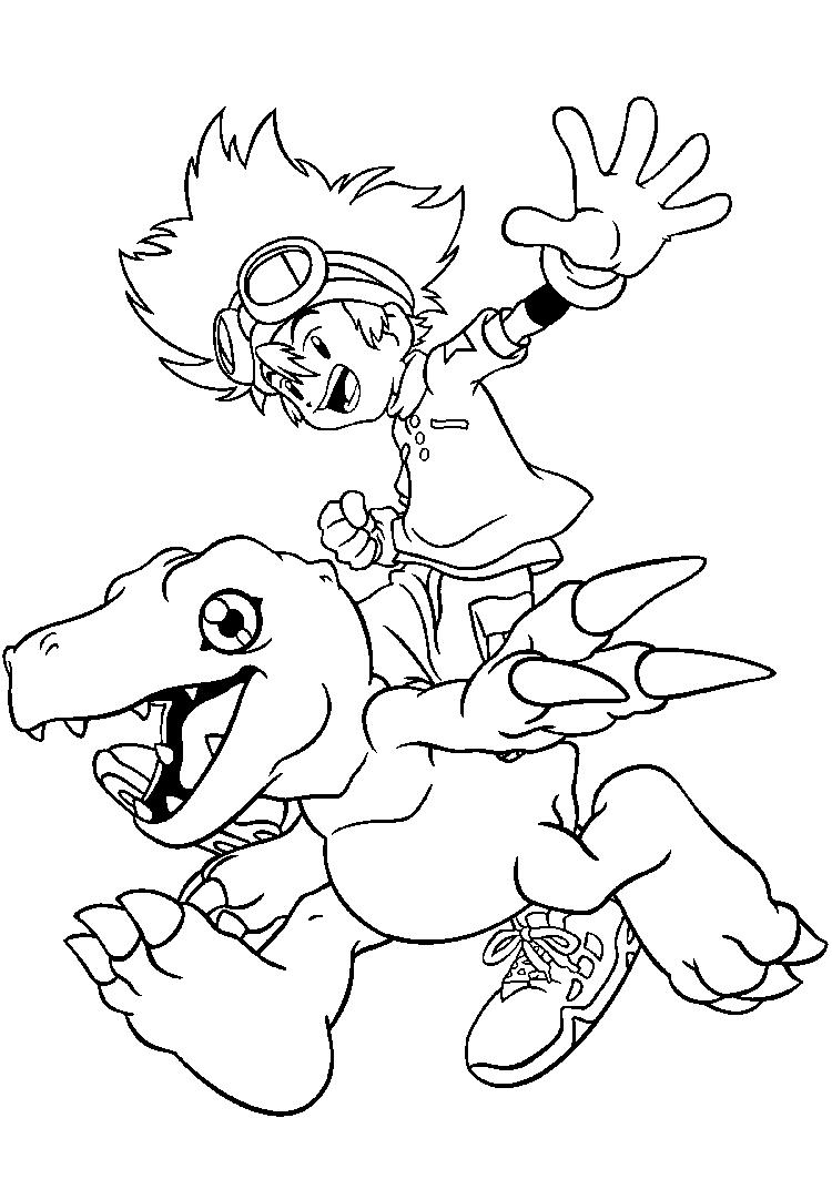 Tai Digimon Coloring Pages