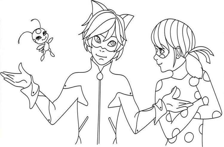 Tales Of Ladybug Cat Noir Animated Series Coloring Page