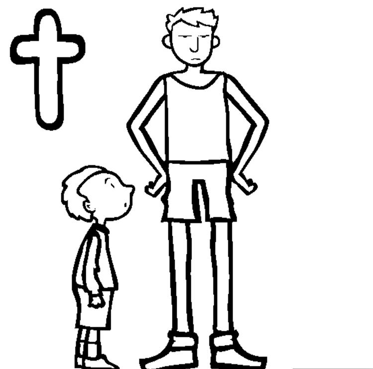 Tall Alphabet Coloring Page