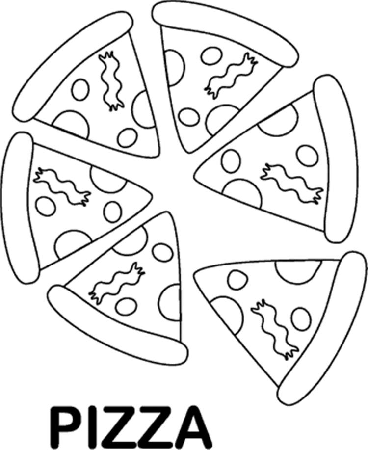 Tasty Pizza Coloring Pages Of Food