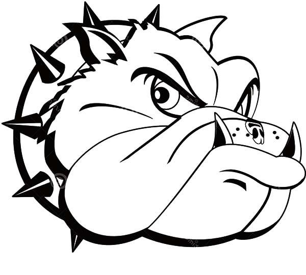 Tattoo Coloring Pages Bulldog Head