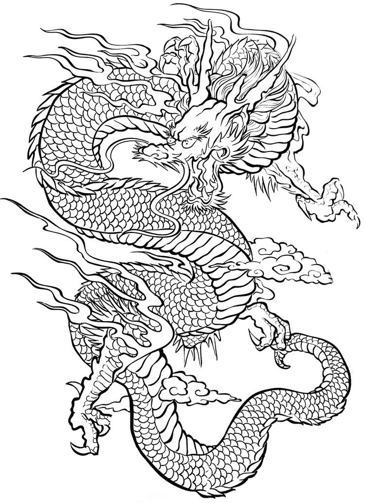 Tattoo Coloring Pages Chinese Dragon