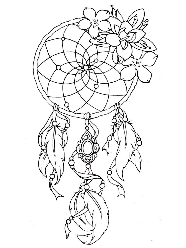 Tattoo Coloring Pages For Girls