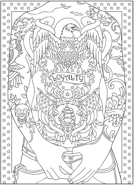 Tattoo Coloring Pages Full Body