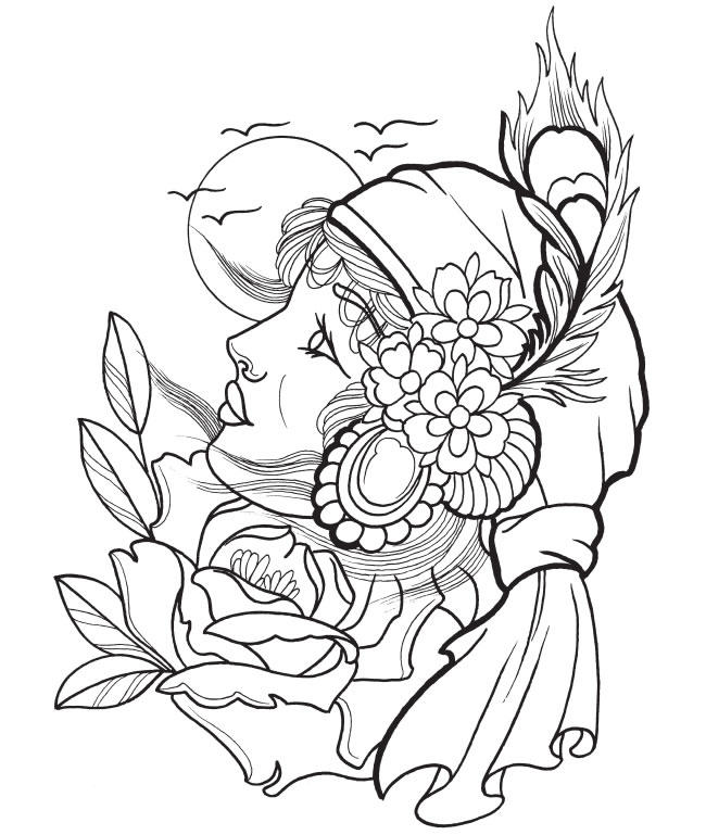 picture regarding Tattoo Coloring Pages Printable referred to as Tattoo Coloring Internet pages Printable - Coloring Suggestions