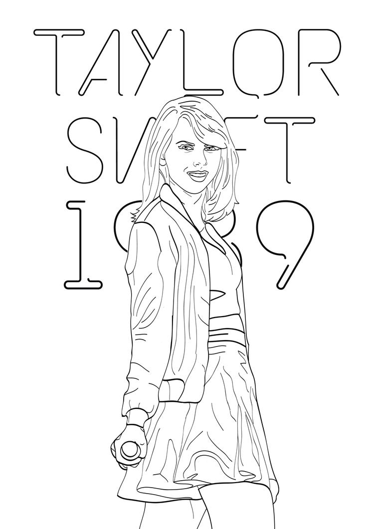 Taylor Swift Coloring Pages 1989