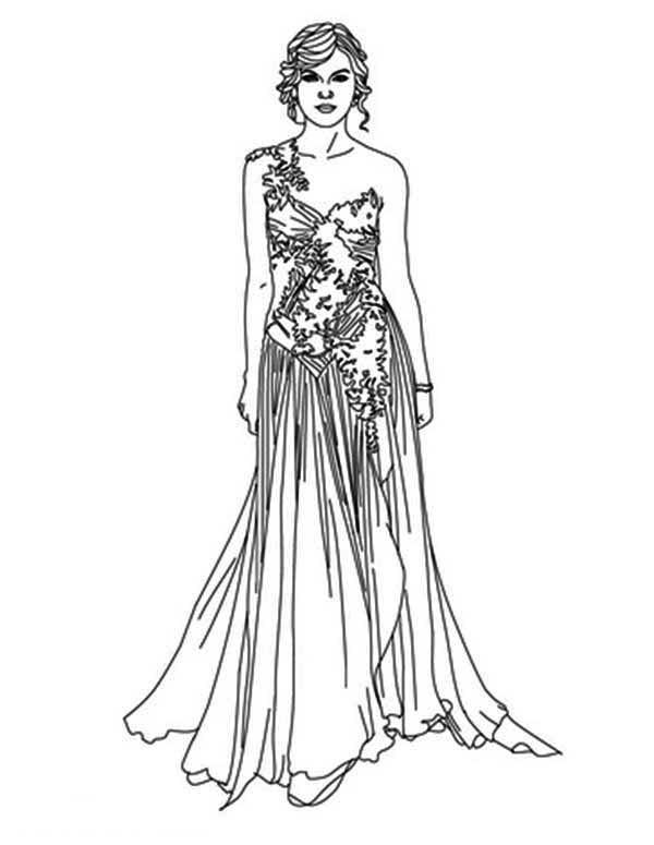 Taylor Swift Coloring Pages Fashion Style