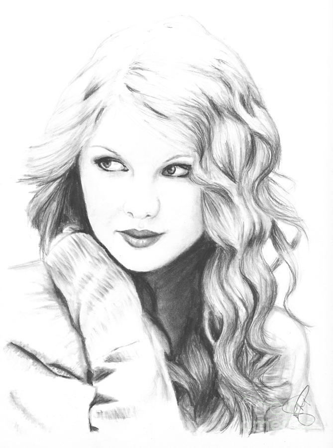 Taylor Swift Coloring Pages Realistic