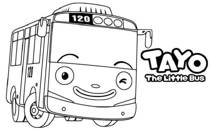 Tayo Bus Colorinng Pages