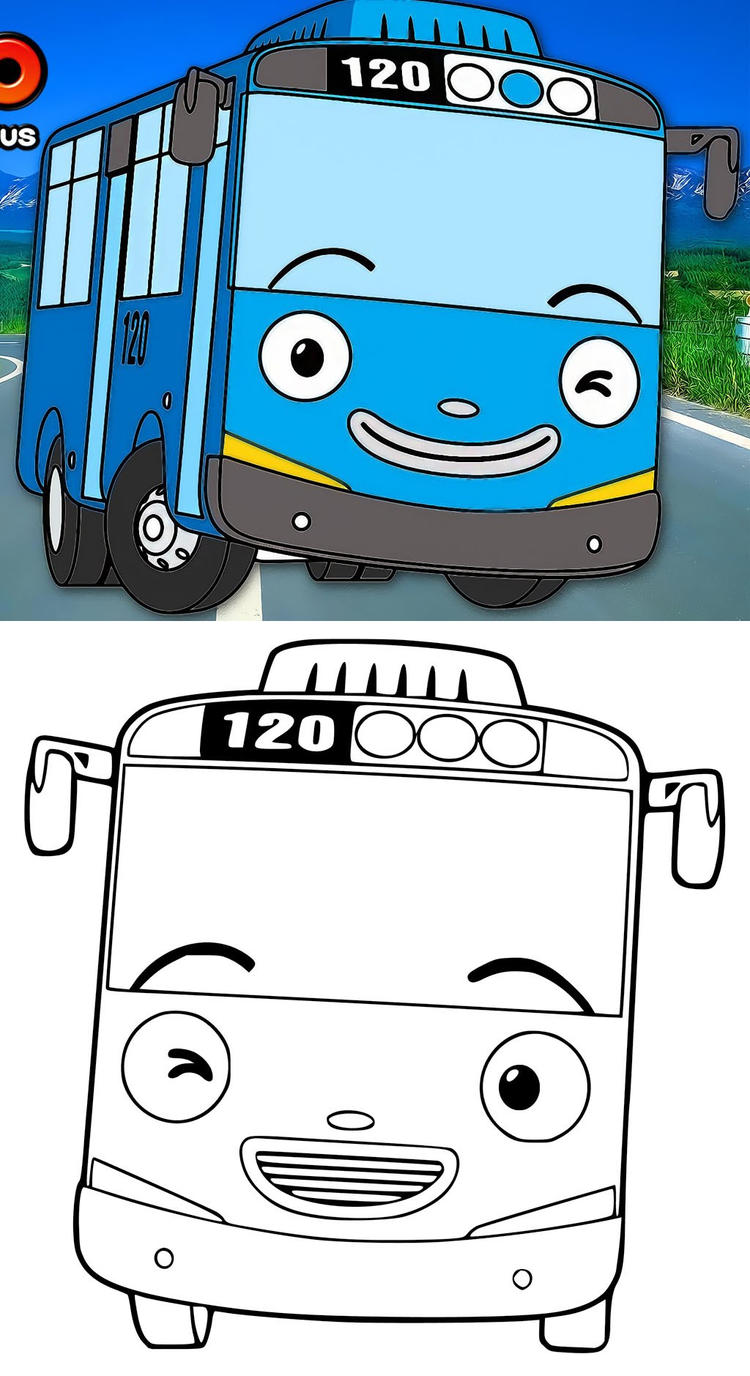 Tayo The Little Bus Coloring Pictures Coloring Ideas