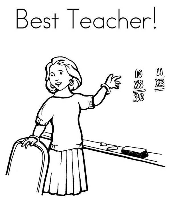 Teacher Community Helpers Coloring Pages