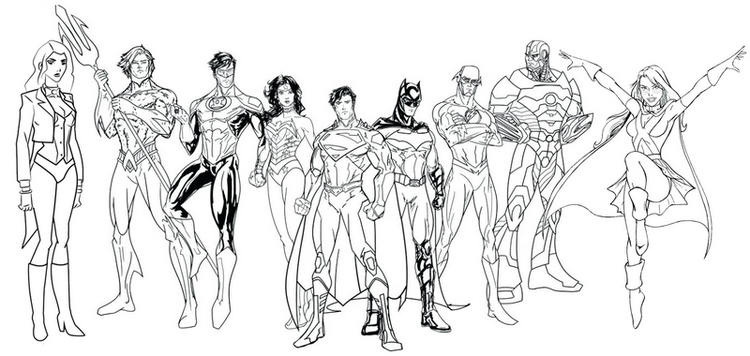 Team Coloring Page Of Young Justice
