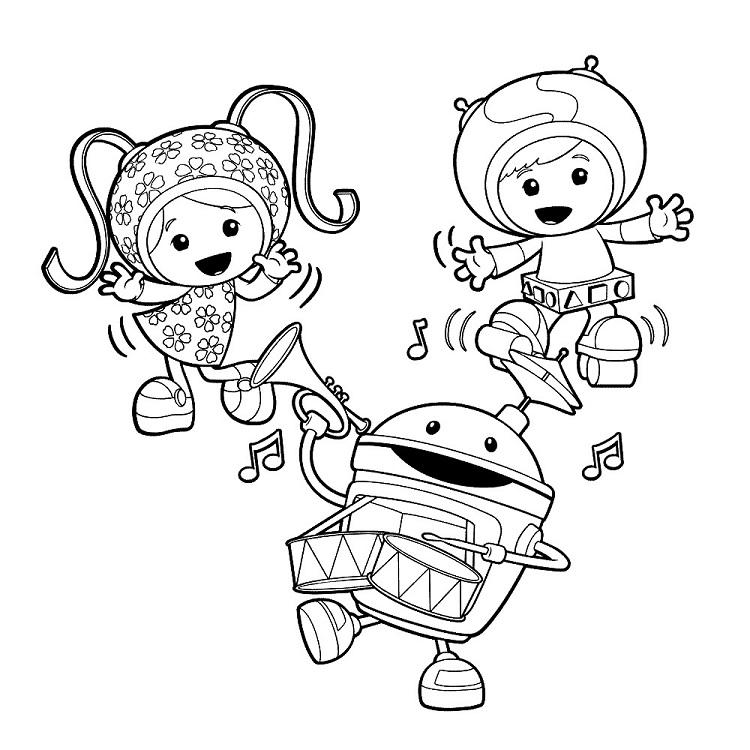 Team Umizoomi Blue Mermaid Coloring Pages