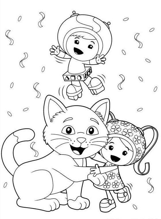 Team Umizoomi Christmas Colouring Page For Kids