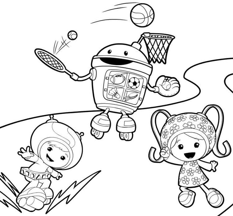 Team Umizoomi Coloring Pages Geo Bot Milli