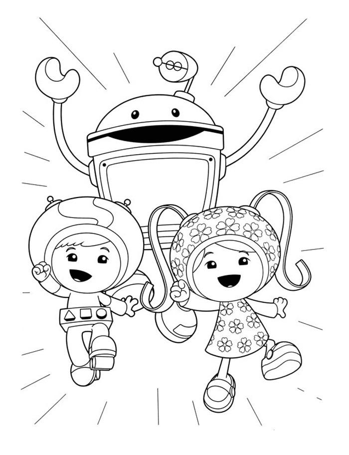 Team Umizoomi Coloring Pages Nickelodeon