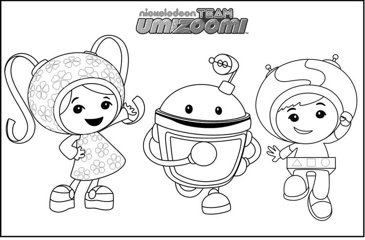 Team Umizoomi For Math Minded Games Coloring Sheets